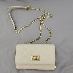 Cream white, crossbody purse